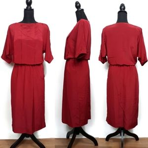 Vintage 80's Prophecy Red Skirt Blouse Set Size 4